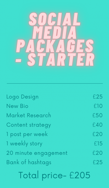 This starter package is equipped with everything a small business will need to help them be successful through social media and enable you to build a strong online presence