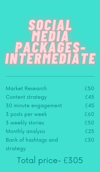 This intermediate social media package is a great deal for anyone looking to enhance their online presence and start to build more awareness and a strong community